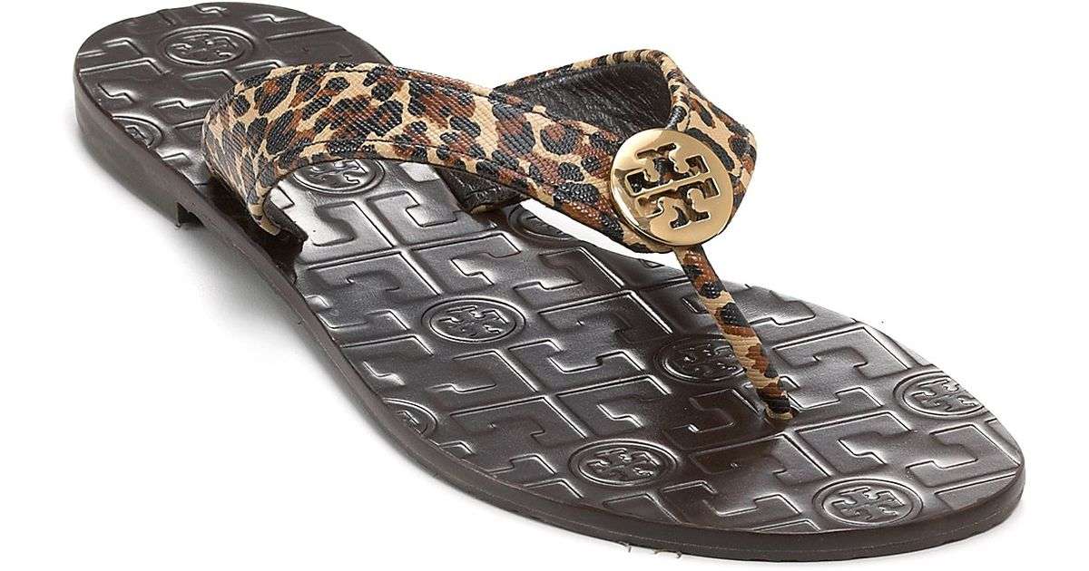 9228ab26499c Lyst - Tory Burch Thora Thong Sandals in Brown