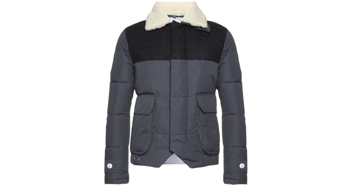 0b5574ca6c65 Gamme Jacket Men In For Lyst Moncler Shearling Bleu Padded Gray dwdqIR