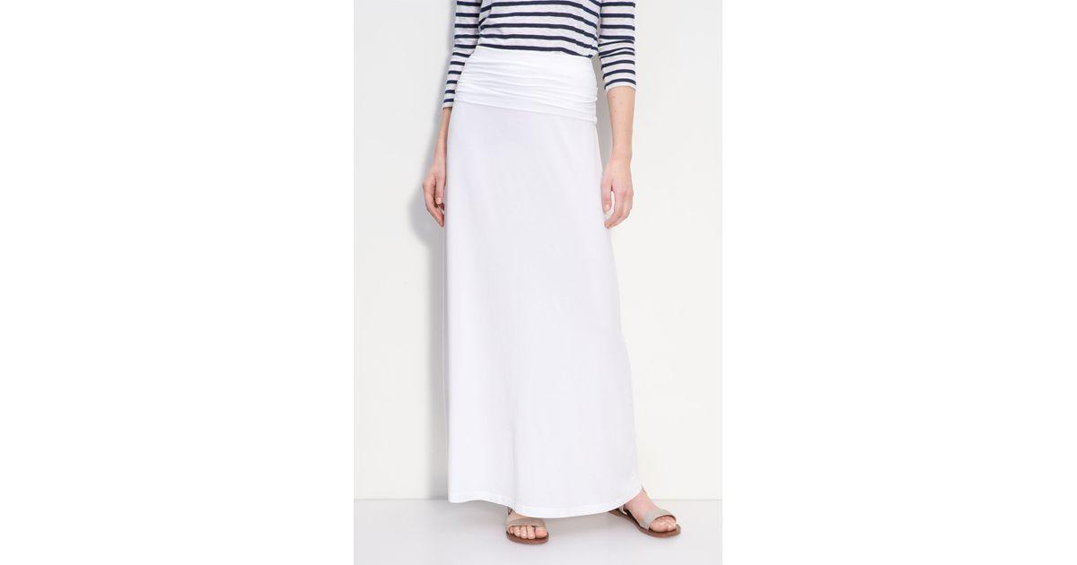 Splendid Knit Maxi Skirt in White | Lyst