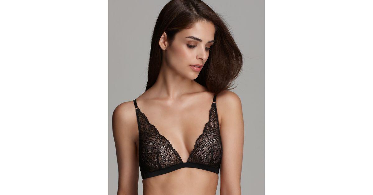 57d2c5ff0c4b0 Lyst - Calvin Klein Underwear Envy Lace Triangle Bra in Black