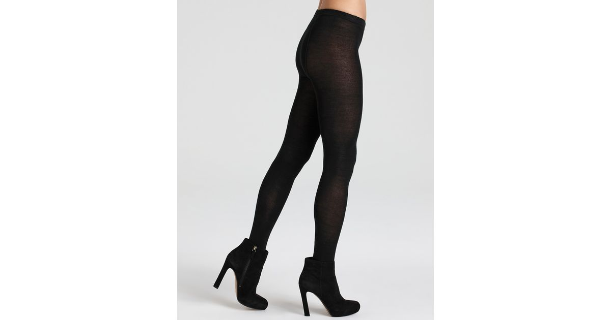f30669c88c1c8 Hue Merino Wool Sweater Tights in Black - Lyst