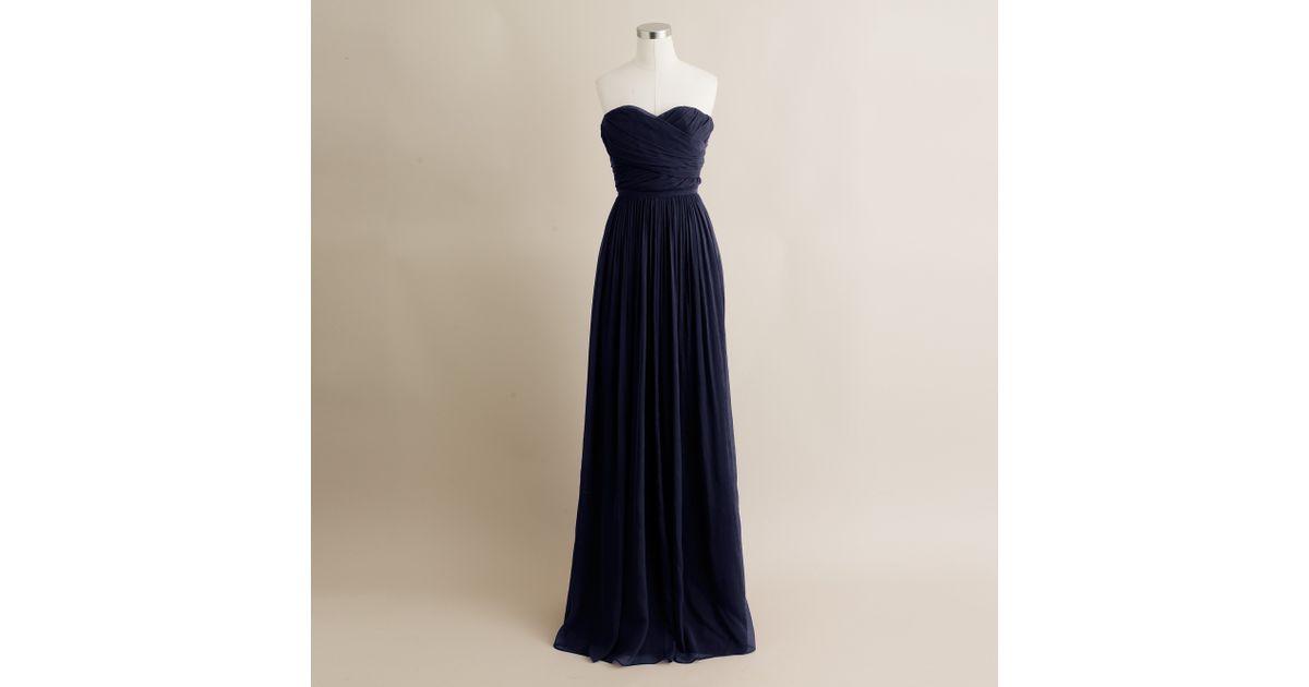 Lyst - J.Crew Arabelle Gown in Blue