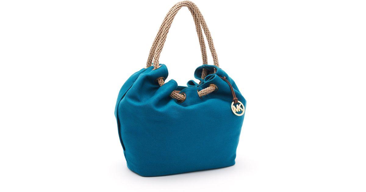 de6a2bf2e9b7 ... satchel nwt 2e274 65c57 good lyst michael kors large marina shoulder  tote in blue c3cb2 884e0 ...