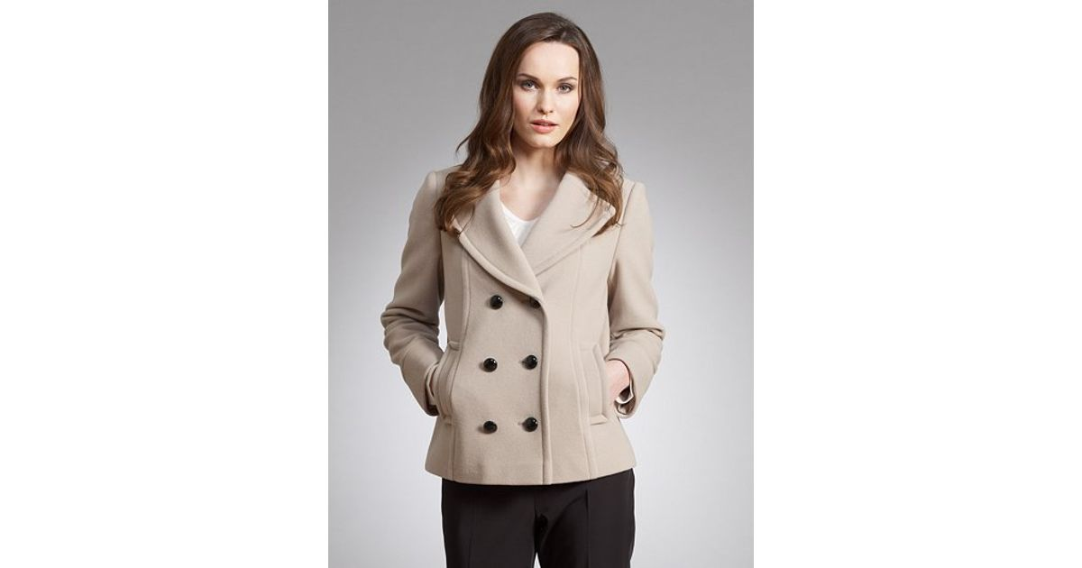 da8784d6e6cdd6 John Lewis Double Breasted Revere Collar Jacket in Natural - Lyst