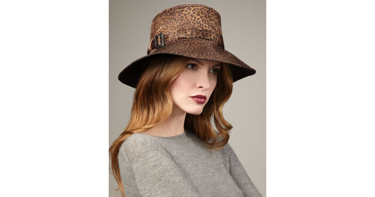 3e540e06e07f6 Eric Javits Leopard-print Rain Hat - Lyst