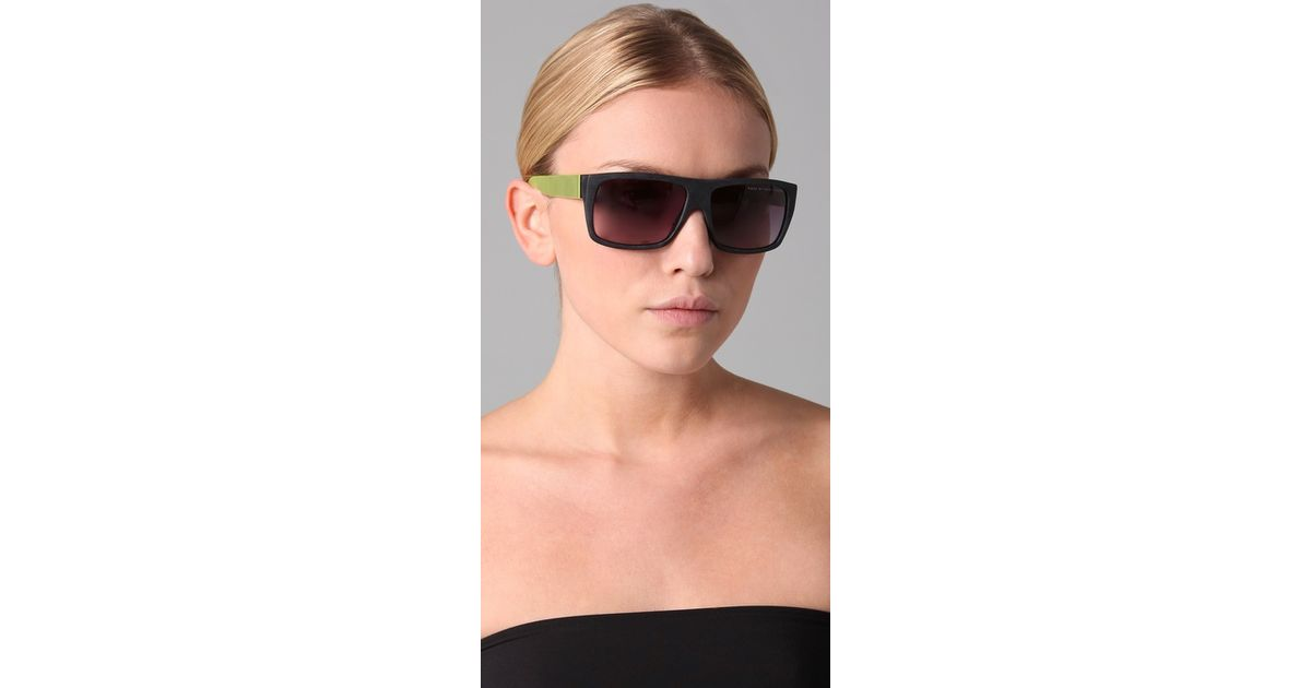3d6ae3c00c Marc By Marc Jacobs Flat Top Sunglasses in Green - Lyst