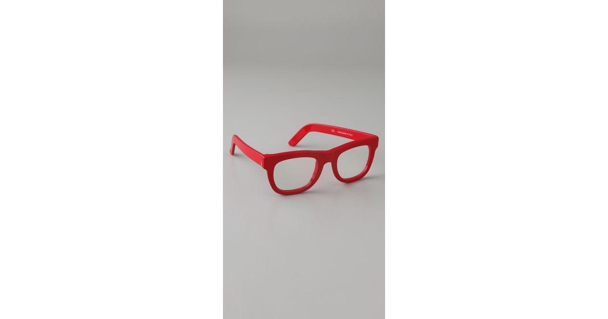 2b4859459c Lyst - Retrosuperfuture Ciccio Glasses in Red