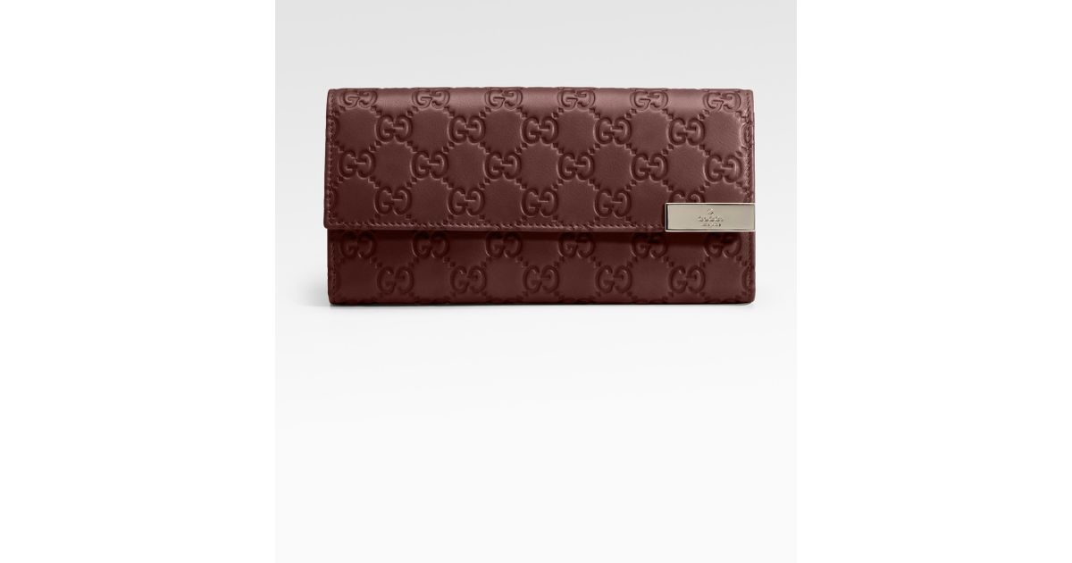 7628ce3dca6f Lyst - Gucci Dice Continental Leather Wallet in Brown