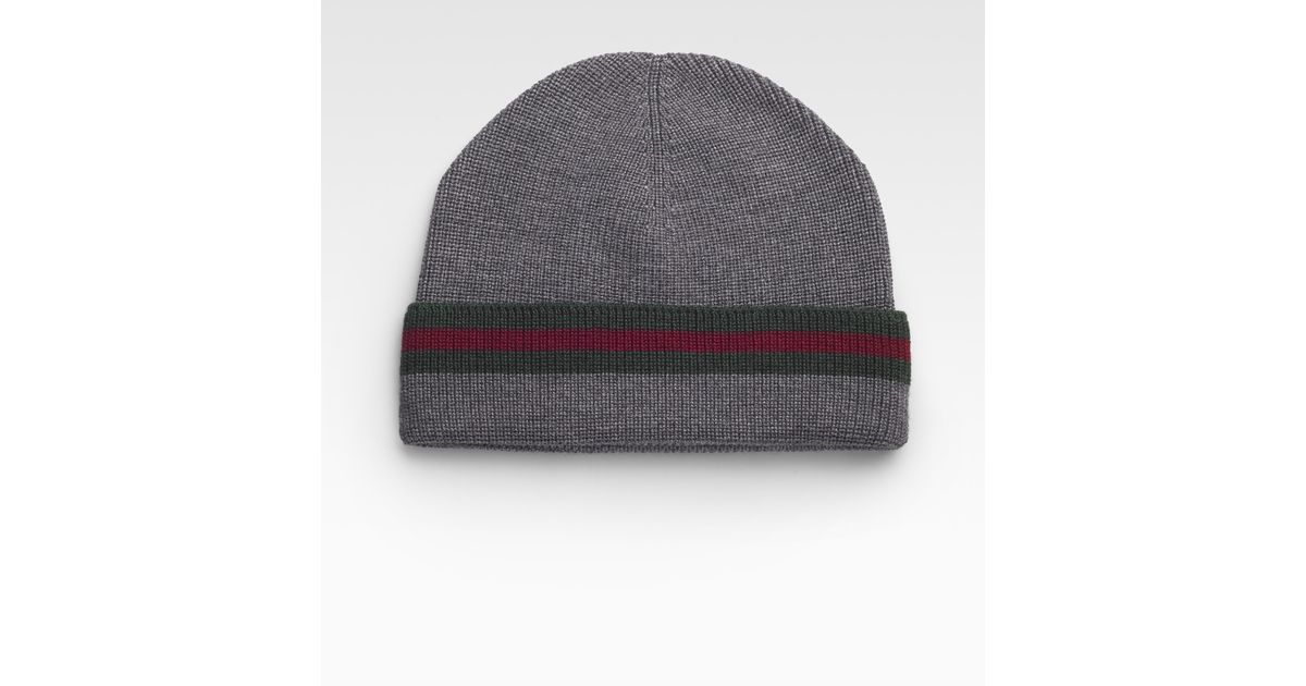Lyst - Gucci Winter Cap in Gray for Men ccb2c1cbef8