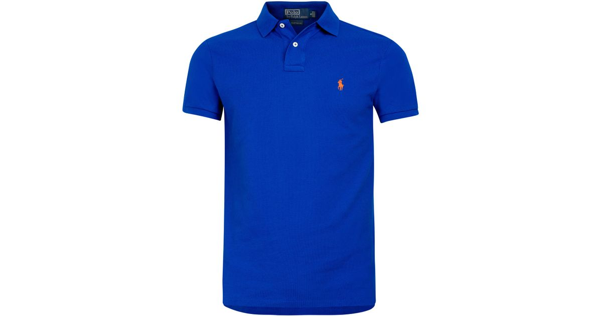 Polo ralph lauren Royal Blue Polo Shirt in Blue for Men | Lyst