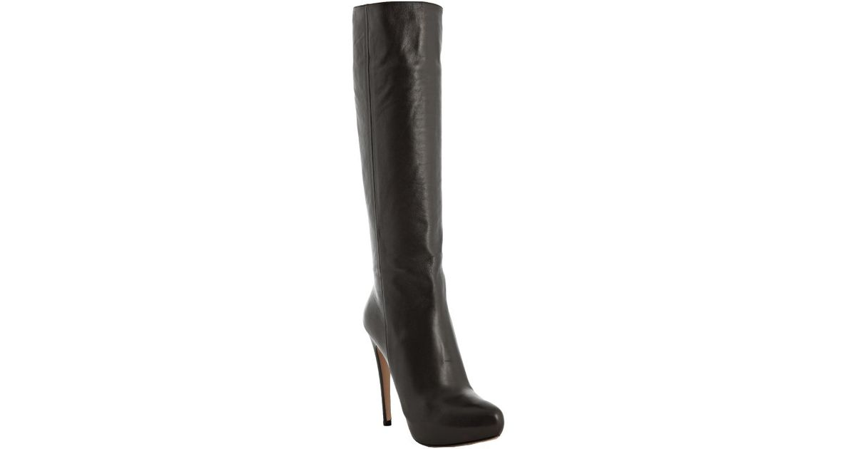 Prada Pointed-Toe Platform Knee-High Boots wholesale price clearance official site discounts for sale XQ4qGz2g