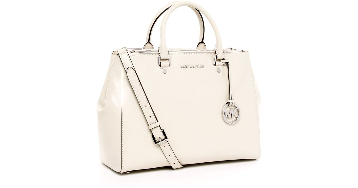 f785291a4c8b Lyst - Michael Kors Large Bedford Dressy Tote, Vanilla in White