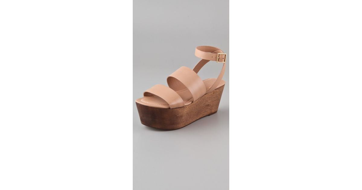 9960917ae Lyst - Elizabeth and James Bax Flatform Wedge Sandals in Natural