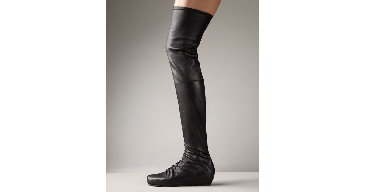 ffb992a946b6 Lyst - Rick Owens Internal-wedge Over-the-knee Boot in Black