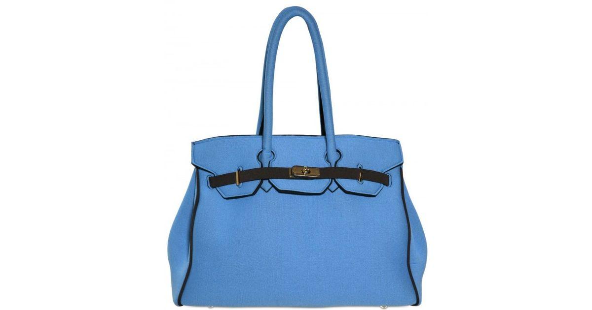 bc0c3f0de6 Lyst - Leghilà B-bag Large Neoprene Top Handle in Blue
