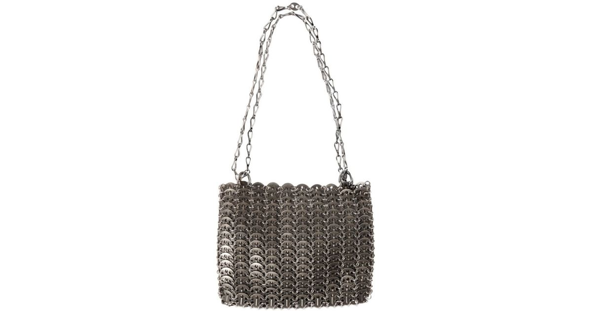 774bf02e203d Lyst - Paco Rabanne Iconic Metal Shoulder Bag in Metallic