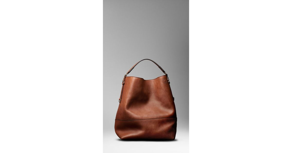 f67e79370928 Burberry Large Washed Leather Duffle Bag in Brown for Men - Lyst