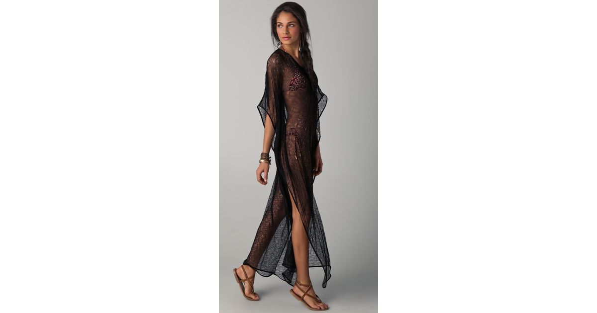 405904a75494 Lyst - OndadeMar Riviera Mesh Cover Up Dress in Black