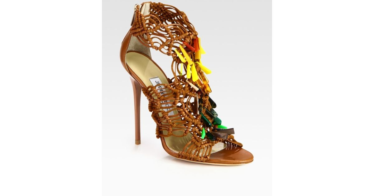 Jimmy Choo Leather Woven Sandals sale countdown package footlocker finishline cheap price clearance real sale Manchester PNC1tfYDd