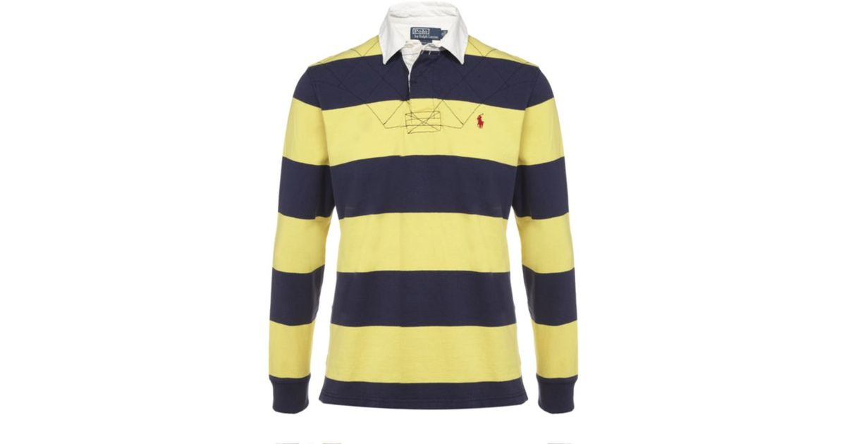 85a4d6499 Polo Ralph Lauren Striped Rugby Jersey in Blue for Men - Lyst