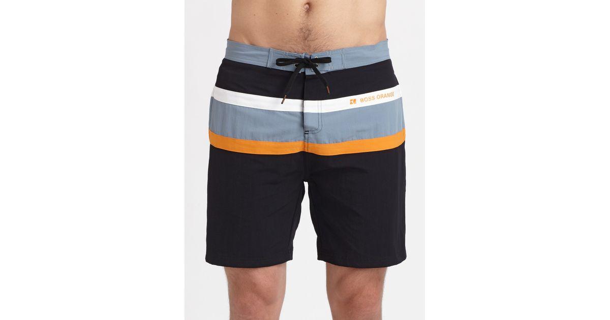 ec420b56 BOSS Orange Classic Swim Shorts in Black for Men - Lyst