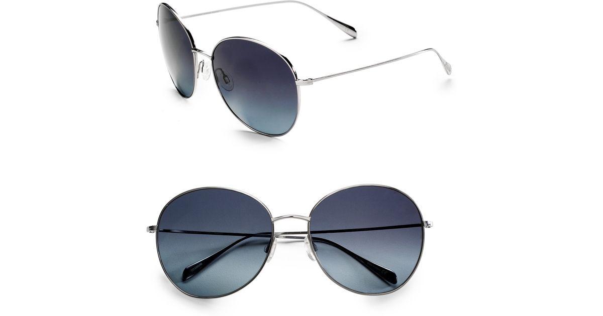 Oliver Peoples Sunglasses Metallic Blondell Metal Round Lyst PZuOXikT