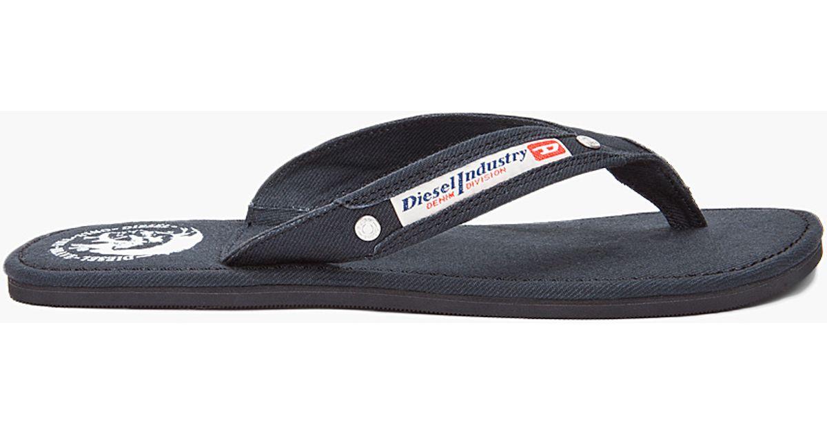 7a32320c88ea Lyst - DIESEL Black Seaside Flip Flops in Black for Men