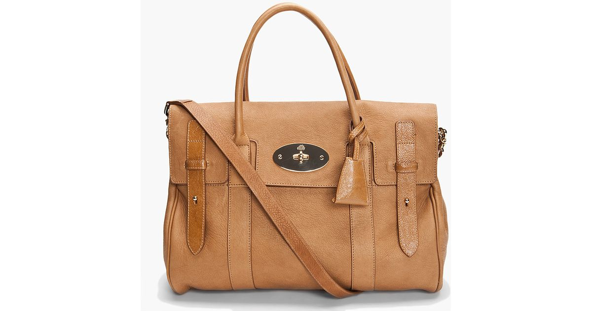 0590357c09 Lyst - Mulberry Heritage Bayswater Satchel in Brown