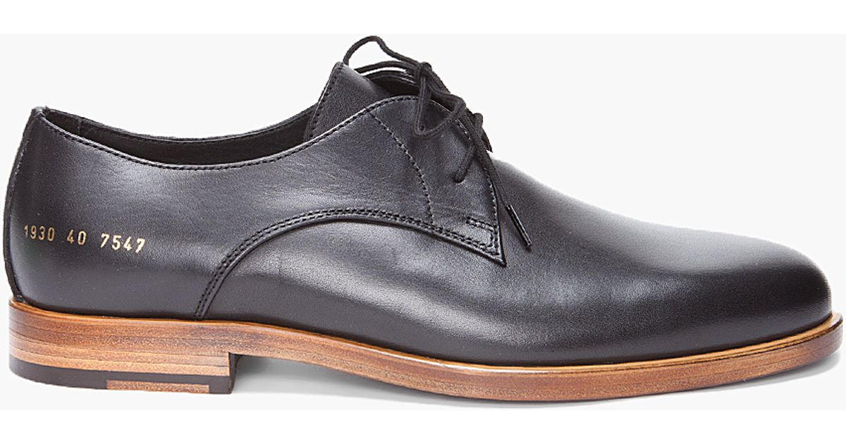 Raised-sole lace-up leather derby shoes Common Projects FN8ZdR