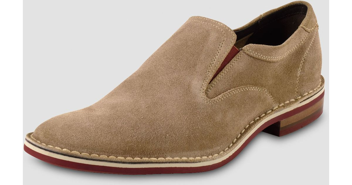 ccae9a5e94 Cole Haan Air Stratton Suede Loafer in Natural for Men - Lyst