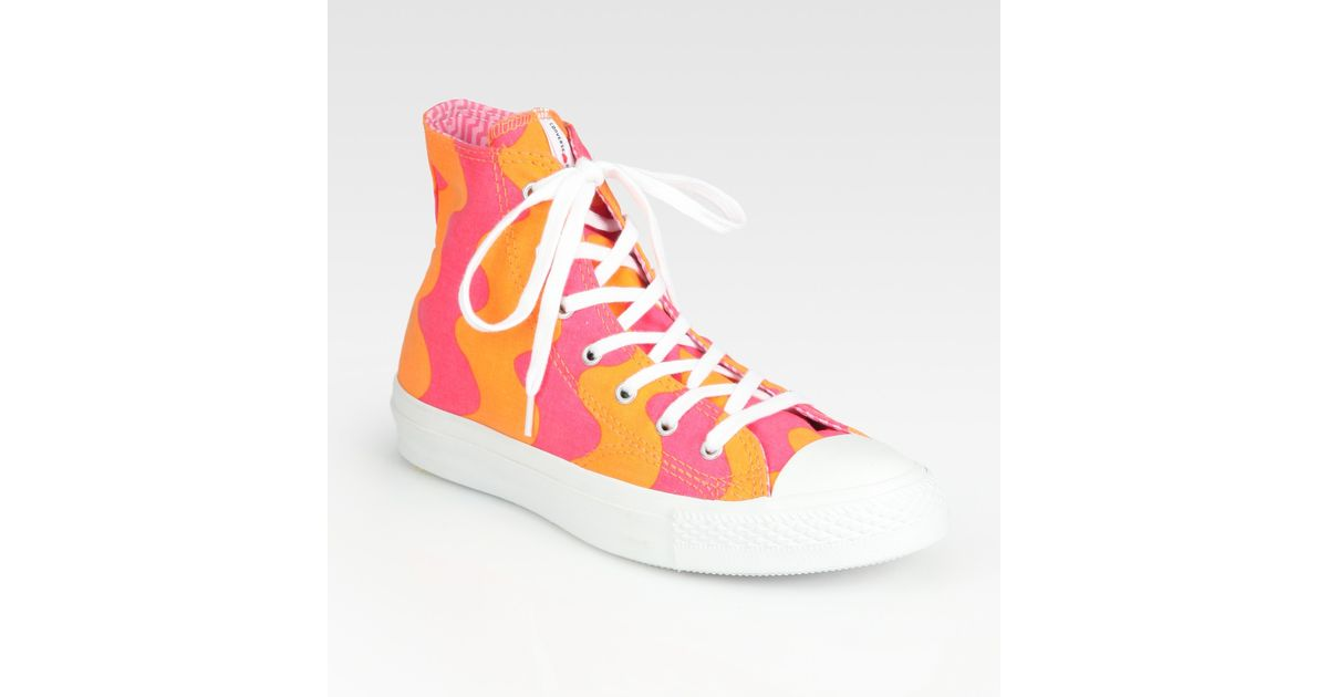 Lyst - Converse Chuck Taylor All Star High Top Marimekko Sneakers in Pink 415b2c4fc