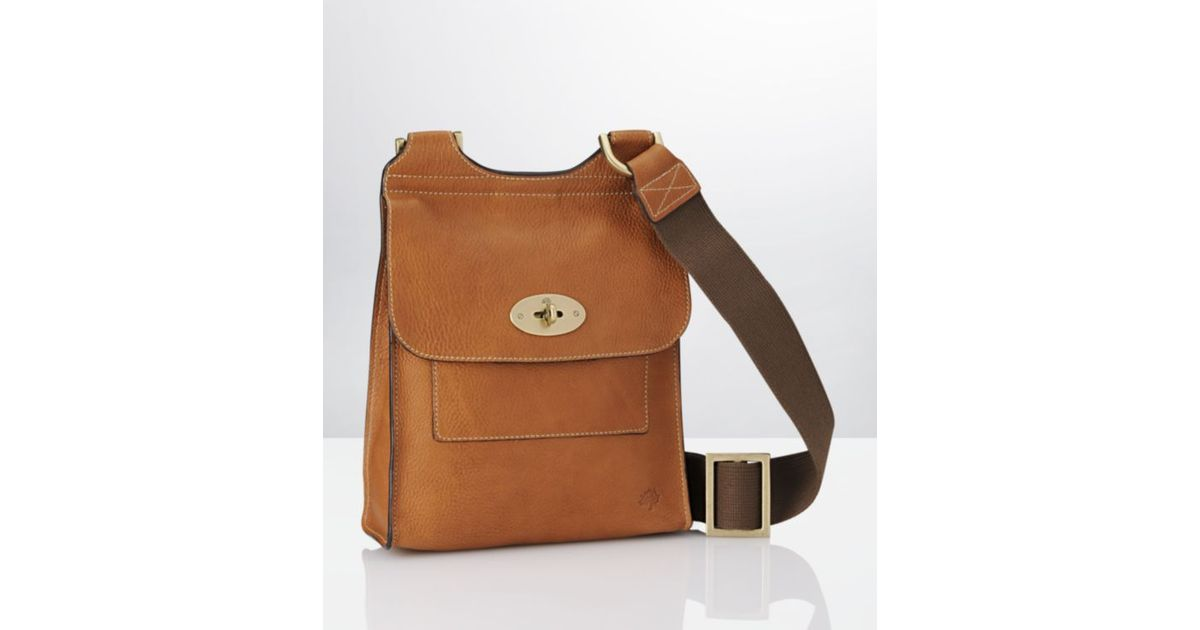 ... order mulberry oak antony satchel small in brown for men lyst 596bf  80467 ... f66d79a3e8793