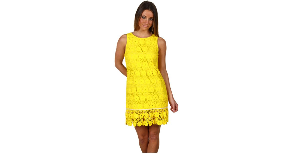 5dcd5369c1 Lyst - Juicy Couture Festival Lace Dress in Yellow
