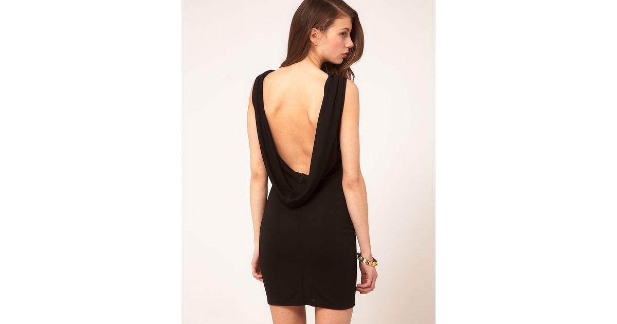 Black sexy back dress