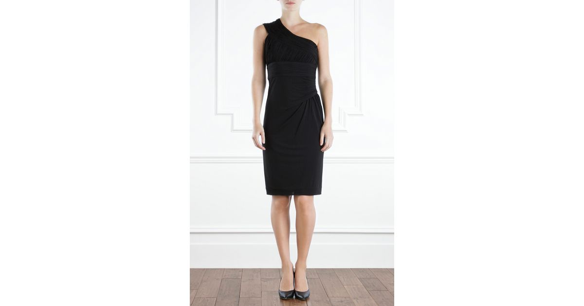 Coast strapless black dress