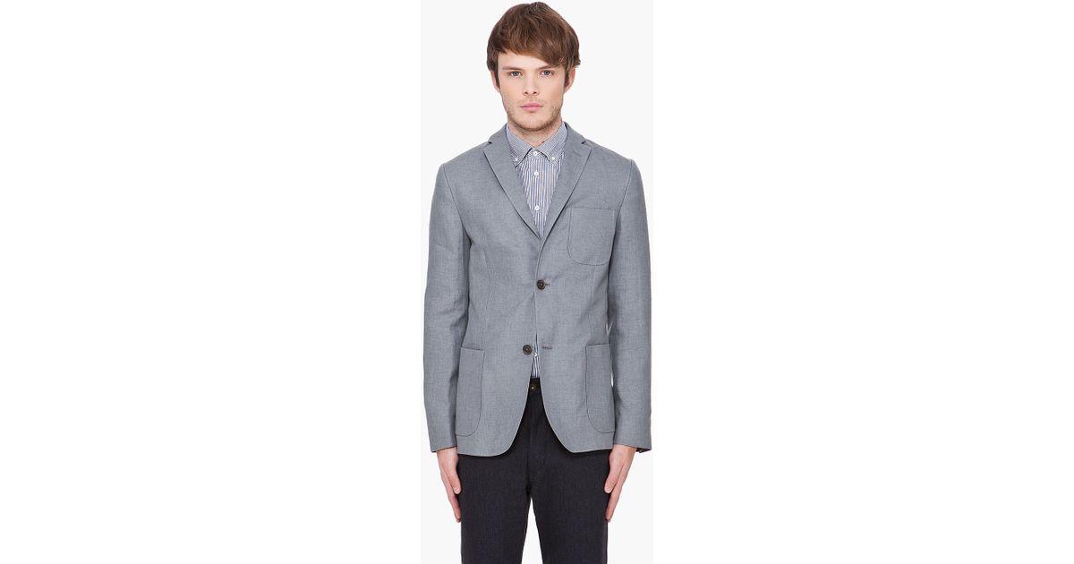 871a1c3f9a Lyst - J.Lindeberg Grey Melange Linen Hopper Blazer in Gray for Men
