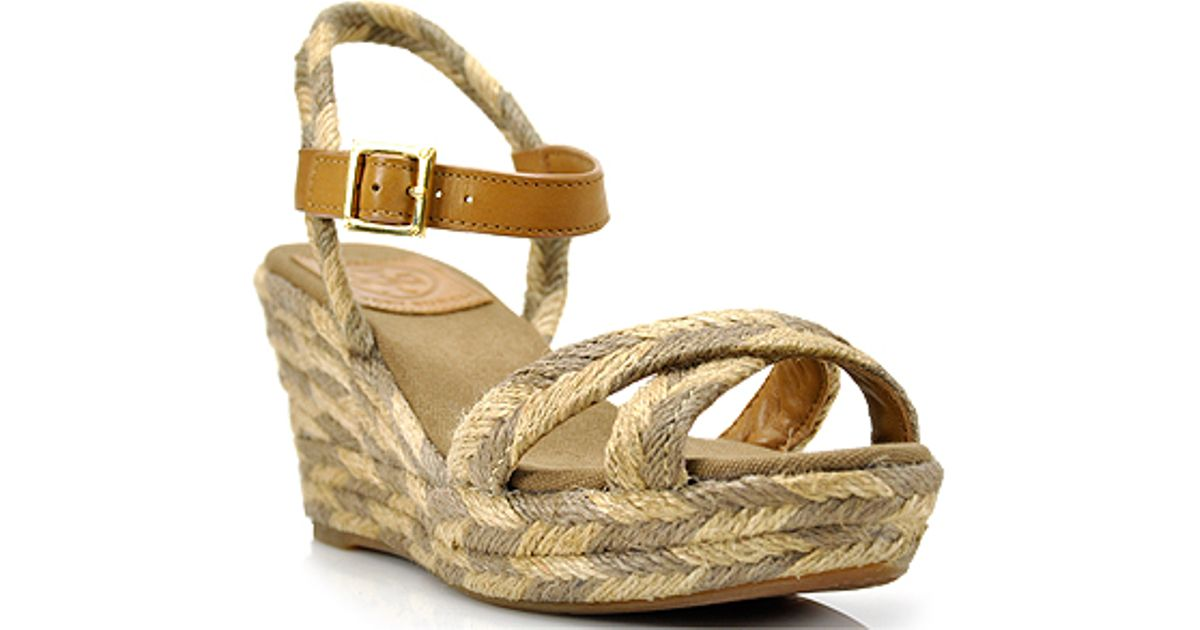buy cheap cheapest price discount big discount Tory Burch Woven Espadrille Wedges buy cheap supply A9g9N19Pt