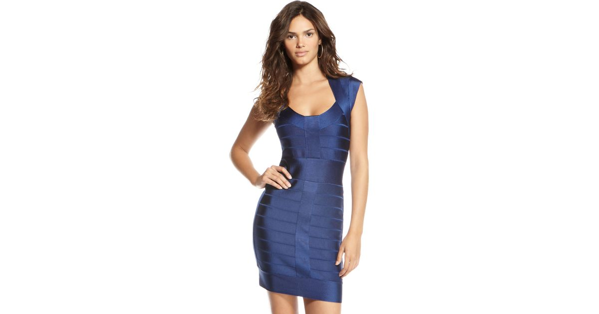 9ae0415e7bb French Connection Spotlight Bandage Dress, Navy in Blue - Lyst