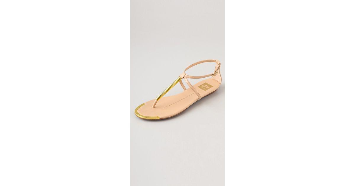 d21749482 Lyst - Dolce Vita Dv Archer Flat Sandals in Natural