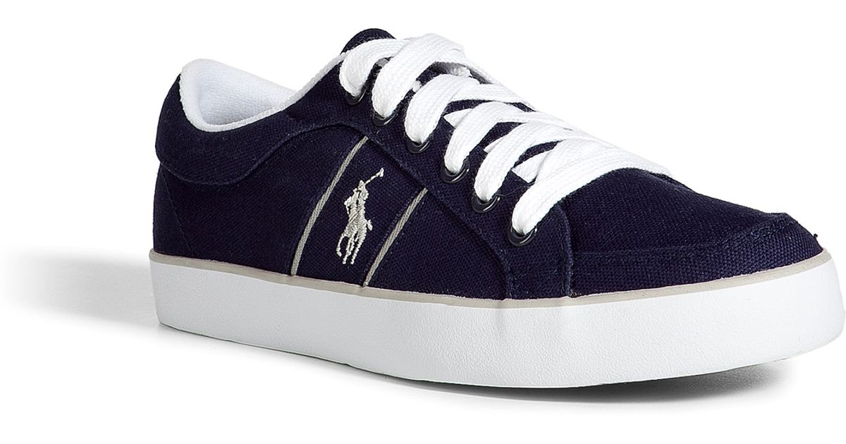 Lyst - Polo Ralph Lauren Newport Navy Canvas Bolingbrook Sneakers in Blue  for Men d1f5d0b4c7