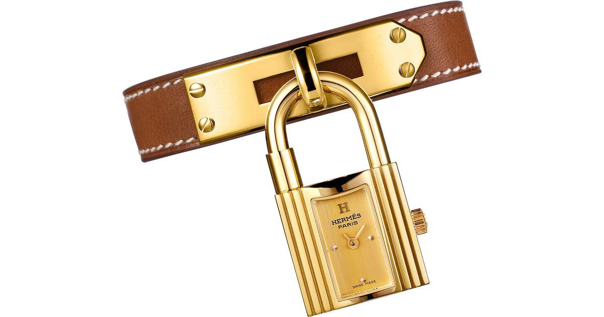 hermes kelly lock watch