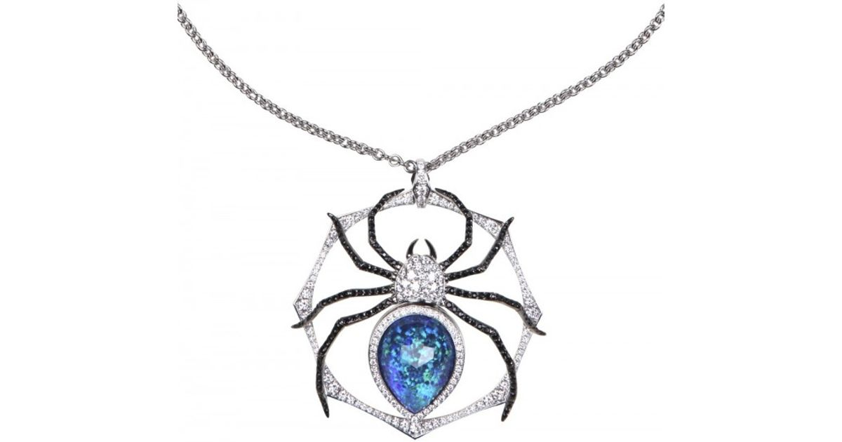 Lyst stephen webster large spider pendant necklace in white aloadofball Image collections