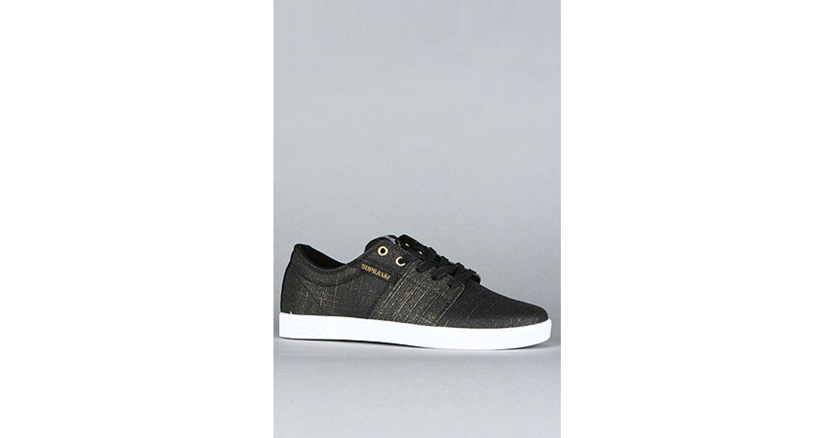332a5198a7 Lyst - Supra The Stacks Sneaker in Black Gold Gunny Tuf in Black for Men