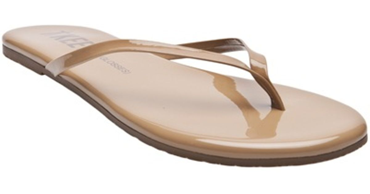 ce9cd485640b TKEES Glosses Flip Flop in Caramel in Natural - Lyst