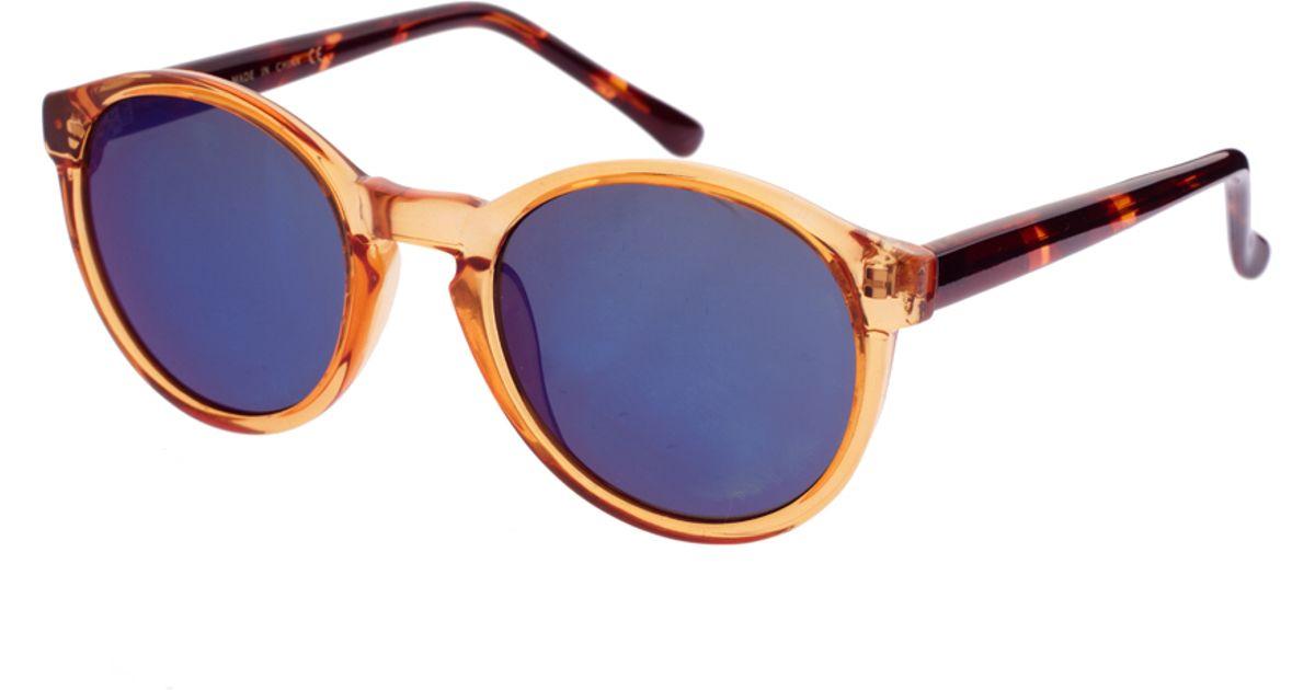 1465a2664dd Lyst - ASOS Asos Orange Keyhole Round Sunglasses with Revo Lens in Orange  for Men
