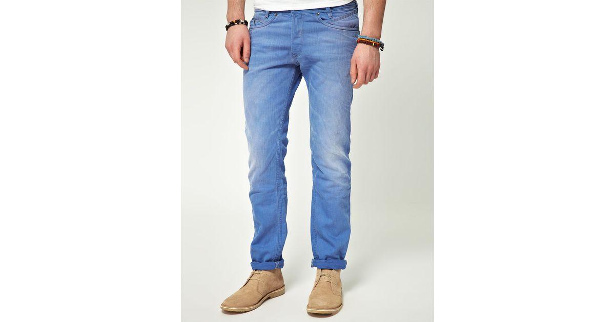 4b14df6a DIESEL Diesel Iakop Slim Tapered Jeans in Blue for Men - Lyst