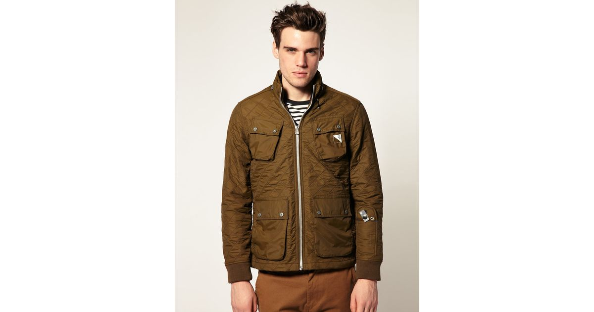 g star raw artic quilted nylon jacket in green for men lyst. Black Bedroom Furniture Sets. Home Design Ideas