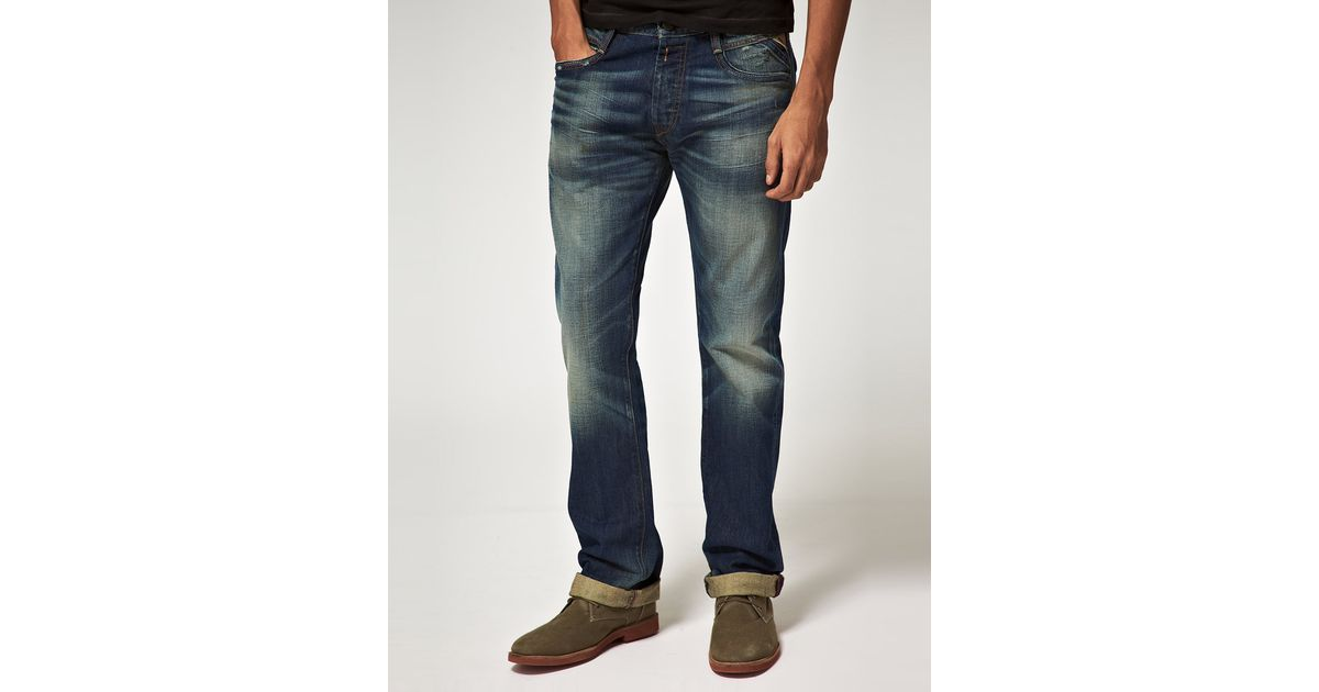 bb78e7d9901 Replay Jimi Bootcut Jeans in Blue for Men - Lyst