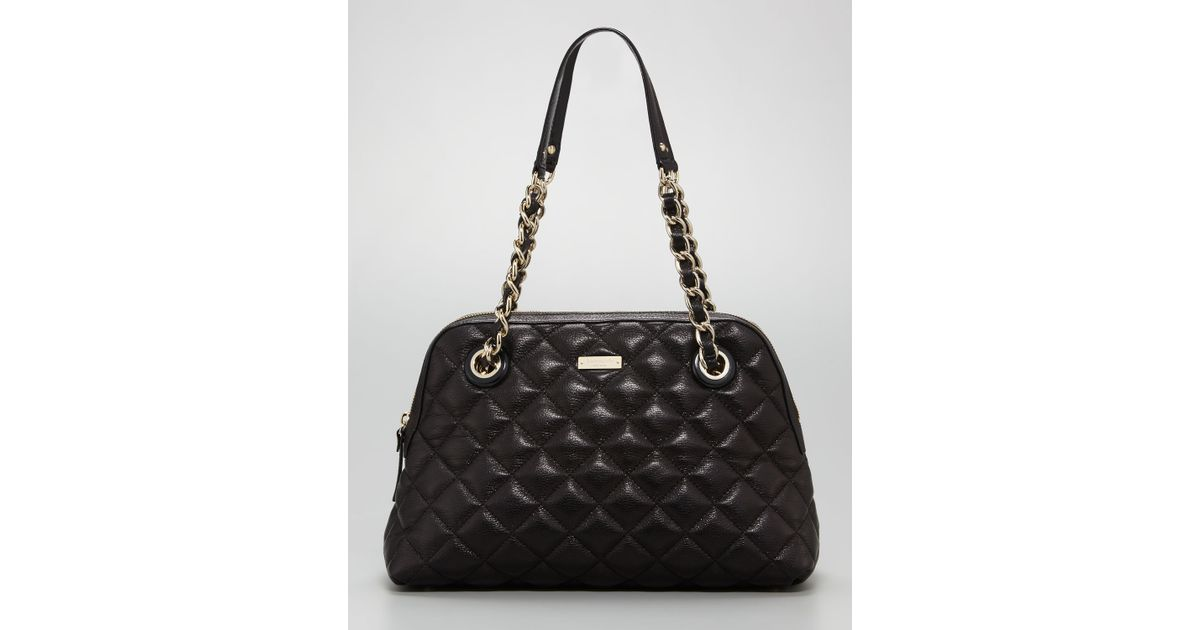 Lyst Kate Spade New York Georgina Quilted Leather Bag In Black