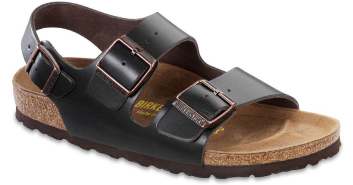 8459ee848a08 Lyst - Birkenstock Mens Milano Leather Back Strap Sandal in Brown for Men